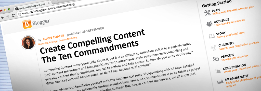 Published blog- content marketing